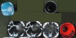 Cones tiro longo para cornetas (Pretos e Grafitados)