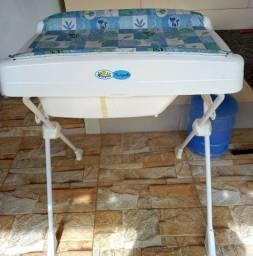 Banheira Burigotto Splash Peixinhos - Azul<br><br>