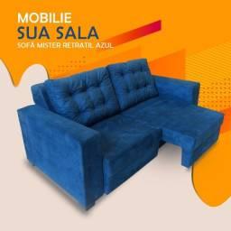 Título do anúncio: Sofa Mister Retratil Azul com Almofadas