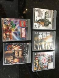 PlayStation 3 + 1 controle + 10 jogos