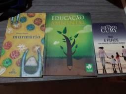 3 Livros Aleatórios: Murmúrio/Educação Ambiental/Pais e Filhos