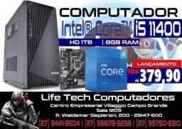 Computador Intel i5 11400 Décima Primeira Geração | 8GB Ram | SSD 240GB