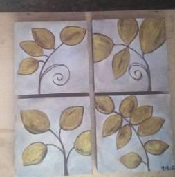 Jogo de quadros 4 peças