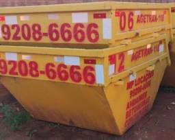 locação de container, betoneira e caçamba
