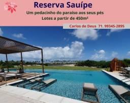 Reserva Sauípe, um pedacinho do paraíso aos seus pés, lotes a partir de 450m²