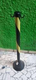 Pedestal Segurança/Sinalização Plástico Preto/Amarelo 95 Cm