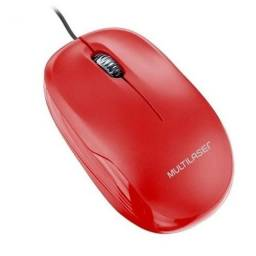Mouse Box Óptico 1200Dpi Usb Vermelho - MO292