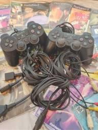 Jogos e controles originais ps2