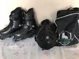 Patins Traxart Street com kit completo de segurança