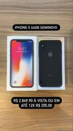 iPhone X 64GB Preto Seminovo