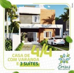 Casas com 3 e 4/4 sendo 3 suítes no Brisas Ville, com terrenos a partir de 200 m
