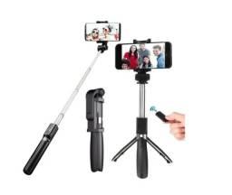 Bastão Pau Selfie Tripe Controle Bluetooth Retrátil Celular
