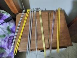 8 pares de agulha de Tricô