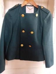 Casaco lã verde novo tamanho 40
