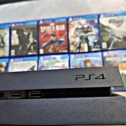 Playstation 4 + 1 controle+ estação de carga+ headset original + câmera original