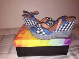 Sandalha plataforma xadrez