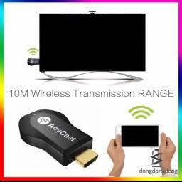 Reprodutor de celular na televisão/ anycast