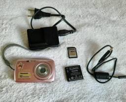 Câmera digital Panasonic Lumix DMC-S1, completa e com tudo original (Rosa)