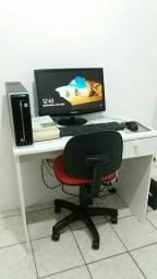 PC I3 3.50 Ghz + Monitor TV HD Samsung + Mesa + Cadeira Escritório