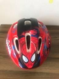 Capacete ciclista Homem Aranha para criança (ajustável) novo