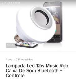 Lâmpada Led RGB com bluetooth e controle