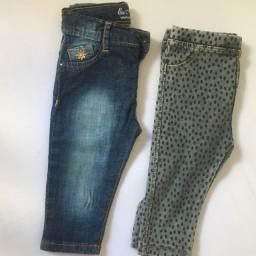 Calça jeans Zara veste 6 a 9 meses
