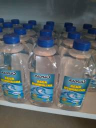 Água demineralizada R$4,00 a unidade