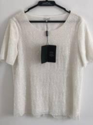 Título do anúncio: Blusa lê lis blanc branca