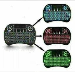 Mini teclado com led para tv box e notebook,PC