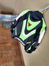 Jaqueta Dainese Moto Corredor Nylon/couro ecológico