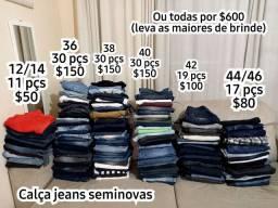 Lote Jeans de 12 a 46 Brechó