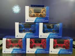 Controles PS4 azul vermelho coppery e preto sem fio original Sony