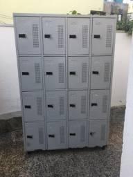 Armário de aço 16 portas.