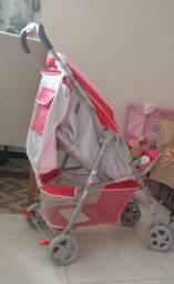 Carrinho de bebê e mini berço Burigotto