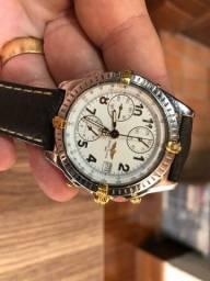 Relógio Breitling aço e ouro automático