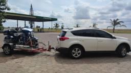 Reboque escamoteavel moto socorro e transporte até 650kg
