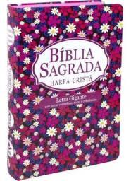 Bíblia Com Harpa Evangélica Feminina Letras Vermelhas