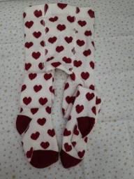 Meia calça bebê - 6 a 12 meses