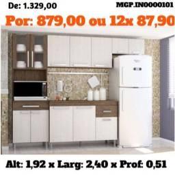 Armario de Cozinha ou Cozinha Compactada com Balcão Lindissima - Novo