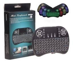 Mini Teclado Controle Sem Fio Touch Led p/PC games TV smart TV box
