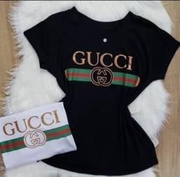 Camiseta Gucci tamanho G,M cor Branca