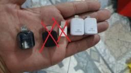 Adaptador OTG original Samsung e Conector Padrão-Tipo V (Conector Padrão ou Tipo C) Leiam