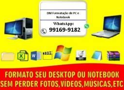 Formatação de PC e Notebook, Assistência técnica. Drivers, Programas!
