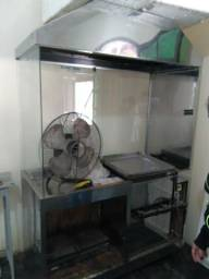 Fritadeira óleo e água c exaustor semi nova! c ótimo preço