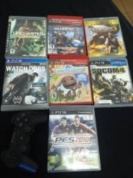 Vendo jogos e controle