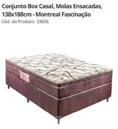 Conjunto Box Casal, Molas Ensacadas, 138x188cm