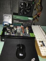 Kit placa mãe+processador +ram +hd +fonte +teclado+mouse