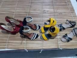4 sandálias por 20,00 n°35
