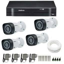 KIT Dvr Intelbras digital 4 câmeras + instalação no local