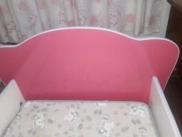 Mini camas rosa com colchão